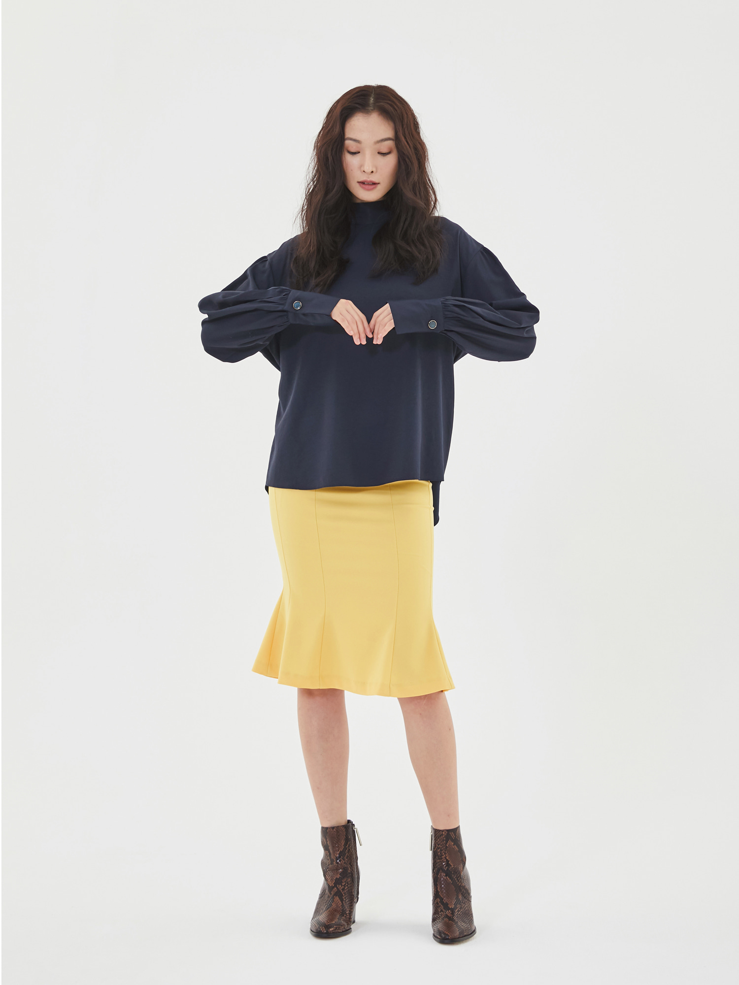 [Clearance 50%Off]Wave Mermaid Skirt in Yellow