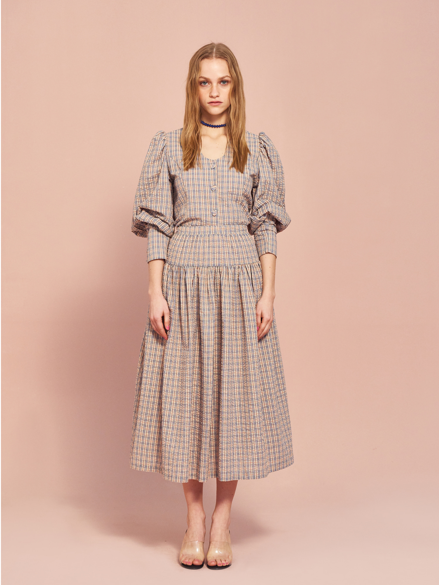 Banding Flair Skirt in Check