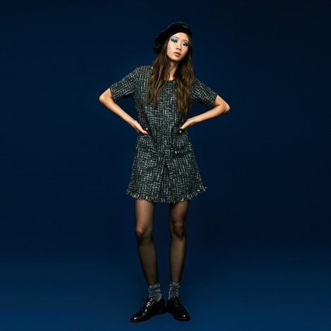 [Sale 40%Off/교환 및 반품불가]Tweed Mini Dress in Black