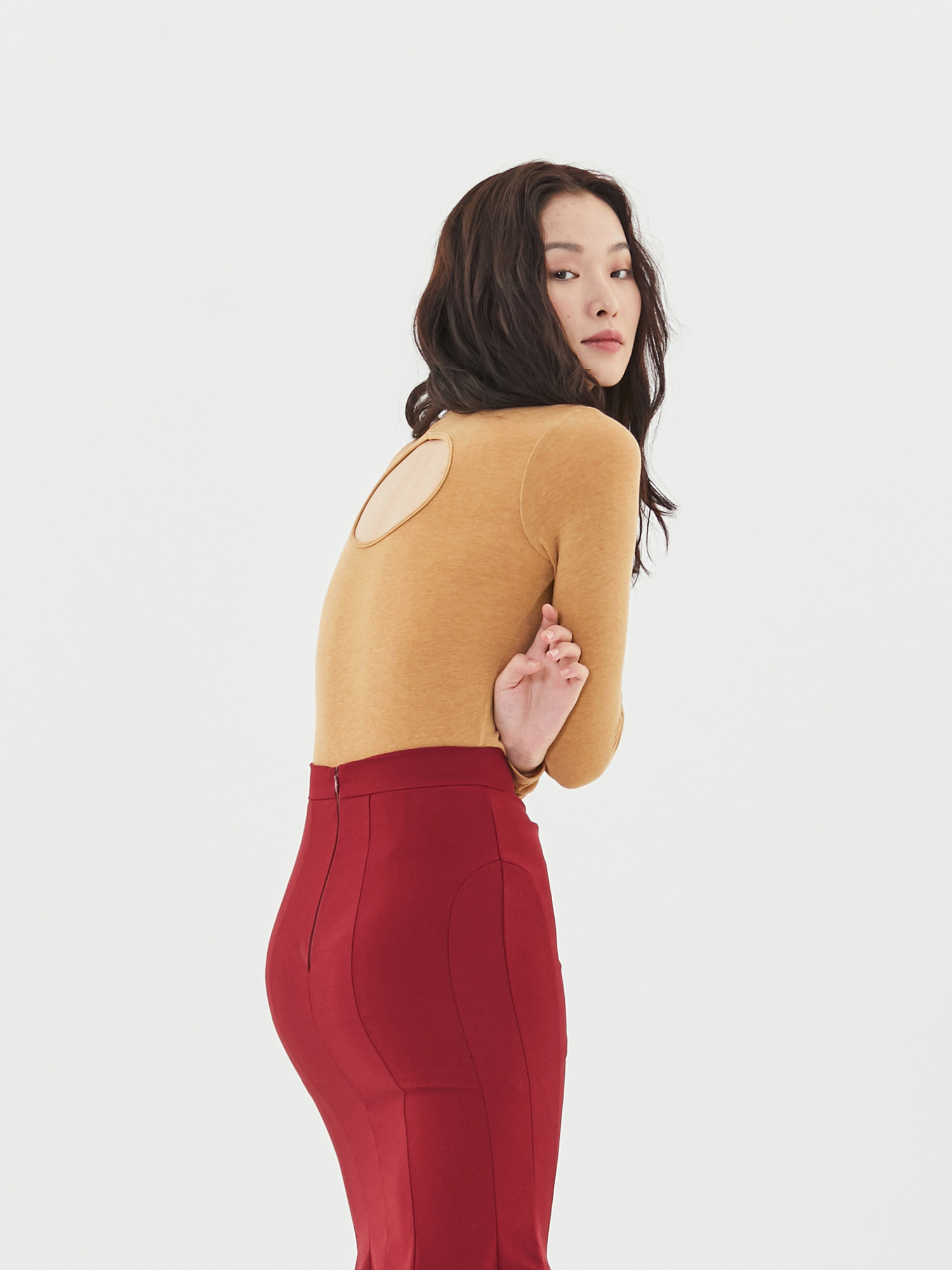 [Clearance 50%Off]Back Hole Turtleneck(3color)