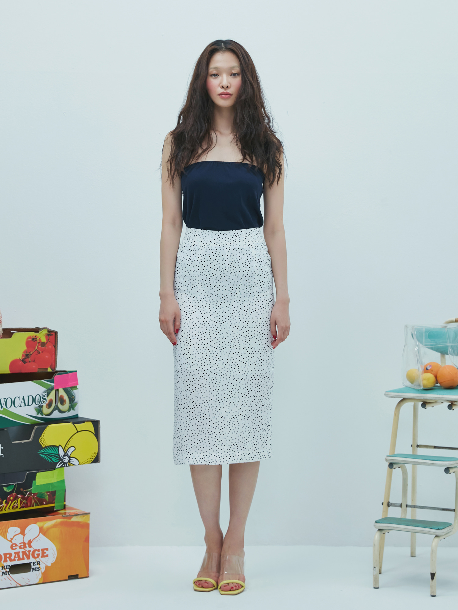 [Sale 60%Off/교환 및 반품불가]Dot Pencil Skirt(3color)